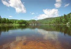 Озеро в Квебеке Стоковые Фотографии RF
