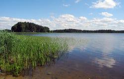 Озеро в Латвии Стоковое Фото