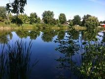 Озеро в Монреале стоковое изображение rf