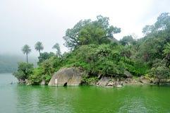 Озеро в муссоне стоковые фотографии rf
