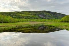 Озеро в национальном парке Acadia Стоковые Изображения RF