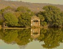 Озеро в национальном парке Ranthambore Стоковые Изображения RF