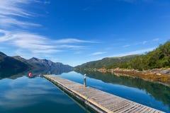 Озеро в Норвегии Стоковое Изображение RF