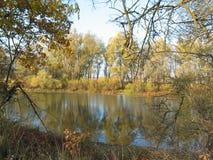Озеро в осени Стоковые Изображения