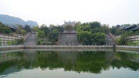 Озеро в пагоде Стоковые Фото