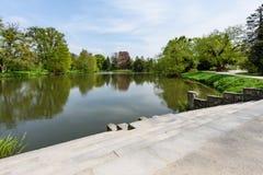 Озеро в парке города Стоковое фото RF
