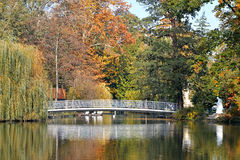 Озеро в парке Maksimir, Загребе, Хорватии Стоковые Изображения RF
