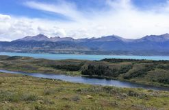 Озеро в Патагонии, Чили Стоковые Фото