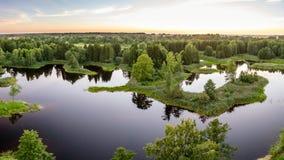 Озеро в передних частях Стоковые Фото