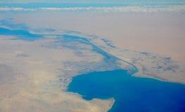 Озеро в пустыне Египта стоковое изображение