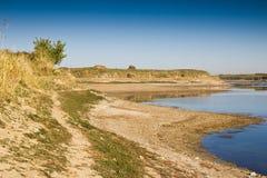 Озеро в степях стоковые фотографии rf