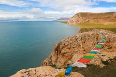 Озеро в Тибете Стоковое Изображение RF