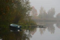 Озеро в утре Стоковые Изображения RF