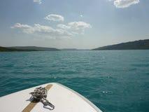 Озеро в Франции, Lac Sainte Croix стоковое изображение