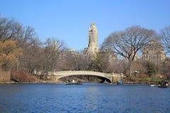 Озеро в центральном парке Нью-Йорке Стоковая Фотография