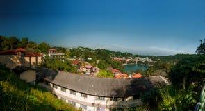 Озеро в центре Kandi Шри-Ланки Стоковые Фотографии RF