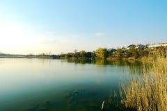 Озеро в частном секторе Стоковое Изображение RF