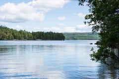 Озеро в Швеции 1 Стоковые Изображения RF