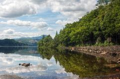 Озеро в Шотландии Стоковое фото RF