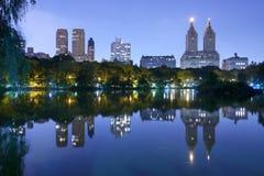 Озеро в Central Park New York City Стоковое Изображение