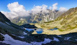 Озеро горы Tatras в Словакии стоковые фотографии rf