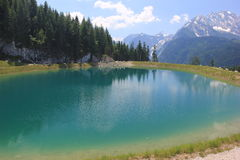 Озеро гор в Баварии, Германии Стоковая Фотография