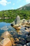 Озеро гор в высоких горах Стоковые Фотографии RF