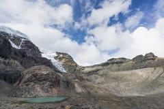 Озеро гор в Blanca кордильер Стоковая Фотография