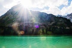 Озеро гор, Россия, Сибирь Стоковые Изображения