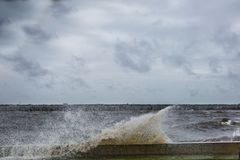 Озеро Джексон во время урагана Ирмы Стоковые Фото