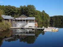 Озеро Джонсон, Северная Каролина стоковые фотографии rf