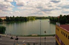 Озеро Джордан, Табор, чехия, август стоковое изображение rf
