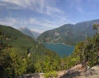 Озеро Диабло от следа ThunderKnob в каскадах национальных Стоковое Изображение RF