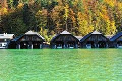 озеро домов шлюпки Стоковое Фото