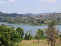 Озеро до полудня Панама Kanal Gatun стоковое фото rf