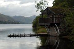 озеро заречья boathouse Стоковое Изображение RF