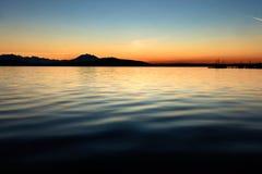Озеро захода солнца Zug Стоковые Изображения