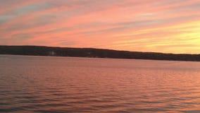Озеро заход солнца Стоковое Изображение RF