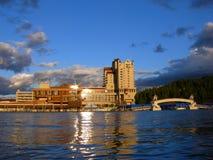 озеро зданий Стоковая Фотография