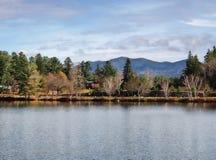Озеро зеркал, Lake Placid стоковые фотографии rf