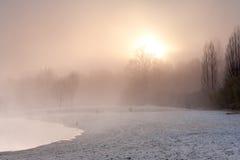 Озеро зим Стоковое Изображение