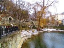 Озеро зим, Kamenets Podolskiy, Украина Стоковые Фотографии RF