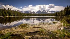 Озеро зяблик национального парка скалистой горы Стоковое Изображение
