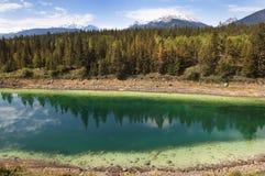 озеро изумруда alberta banff Канады Стоковое Изображение RF