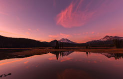 Озеро искр на заходе солнца Стоковое Изображение