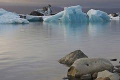 озеро Исландии айсбергов ледника Стоковая Фотография
