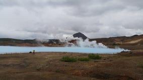 Озеро Исланди Geotermal Стоковые Фотографии RF