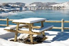 озеро Италии campotosto abruzzo Стоковое фото RF