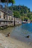 озеро Италии como Стоковые Фотографии RF