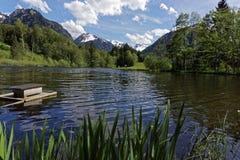 Озеро и горы Стоковые Фото